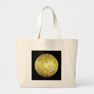 PLANET JUPITER'S MOON IO true color (solar system) Large Tote Bag