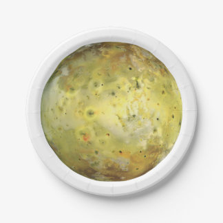 PLANET JUPITER'S MOON IO true color (solar system) Paper Plate