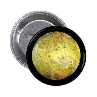 PLANET JUPITER'S MOON IO true color (solar system) Pinback Button