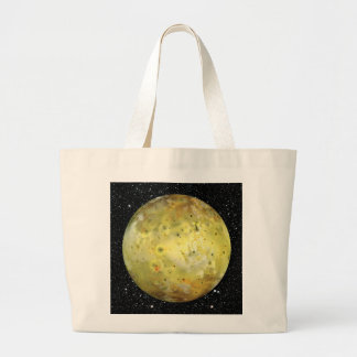 PLANET JUPITER'S MOON IO true color  (space) ~ Large Tote Bag