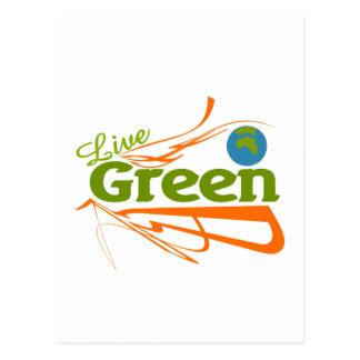 planet live green postcard