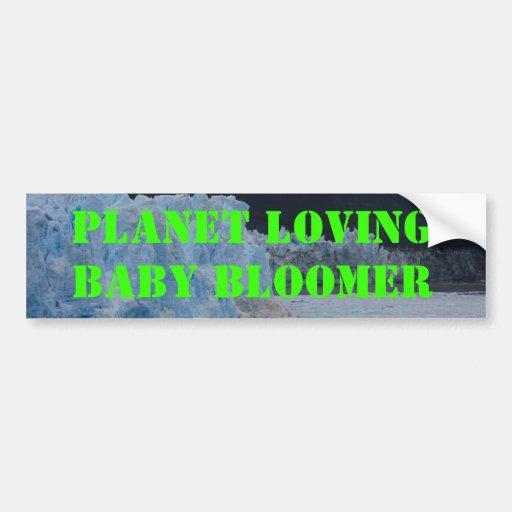 Planet Loving Car Bumper Sticker