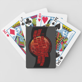 Planet Mars Bicycle Playing Cards