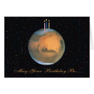 Planet Mars Birthday Card