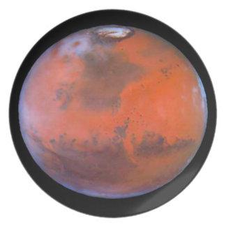 Planet Mars Dinner Plate. Plate