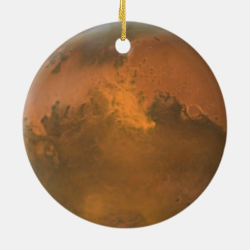 Planet Mars Full Orange View Circle Ornament