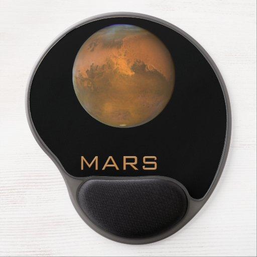 Planet Mars Full Orange View Gel Mousepad