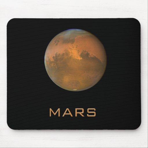 Planet Mars Full Orange View Mousepad