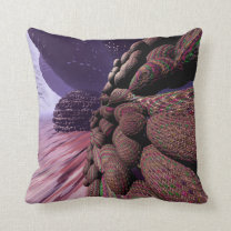Planet Mars. Highway Throw Pillow