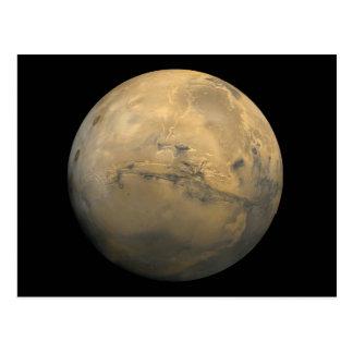 Planet Mars in the solar system NASA Postcard