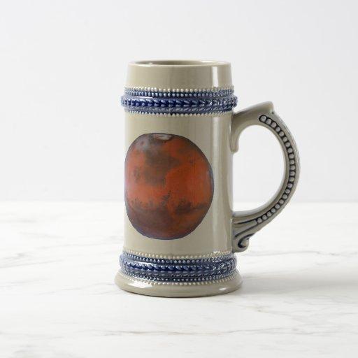 Planet Mars Mugs. 18 Oz Beer Stein