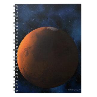 Planet mars spiral notebooks