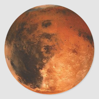 PLANET MARS (solar system) ~ Classic Round Sticker