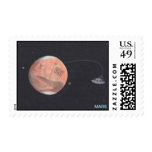 Planet MARS stamps