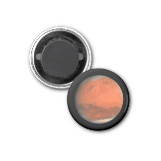 PLANET MARS true color natural (solar system) ~ 1 Inch Round Magnet