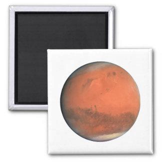 PLANET MARS true color natural (solar system) ~~ 2 Inch Square Magnet