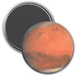 PLANET MARS true color natural (solar system) ~ 3 Inch Round Magnet