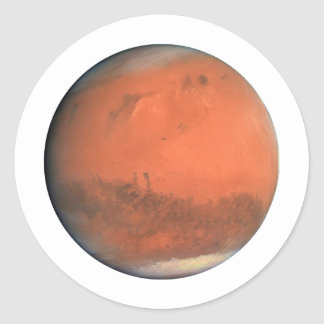 PLANET MARS true color natural (solar system) ~~ Classic Round Sticker