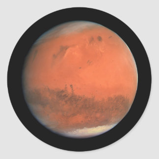 PLANET MARS true color natural (solar system) ~ Classic Round Sticker