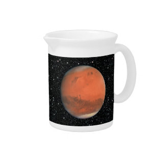 PLANET MARS true color natural (solar system) ~~.p Beverage Pitcher