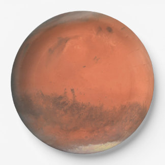 PLANET MARS true color natural (solar system) ~ Paper Plate