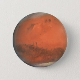 PLANET MARS true color natural (solar system) ~ Pinback Button
