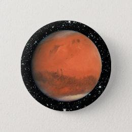 PLANET MARS true color star background ~ Pinback Button