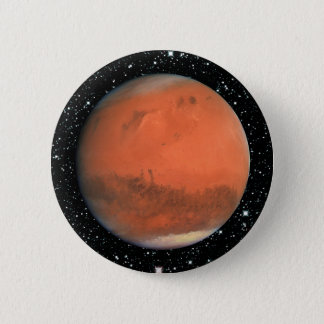PLANET MARS true color star background ~ Pinback Button