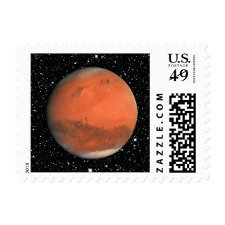 PLANET MARS true color star background (solar syst Postage