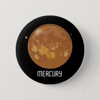 Planet Mercury Button Badge