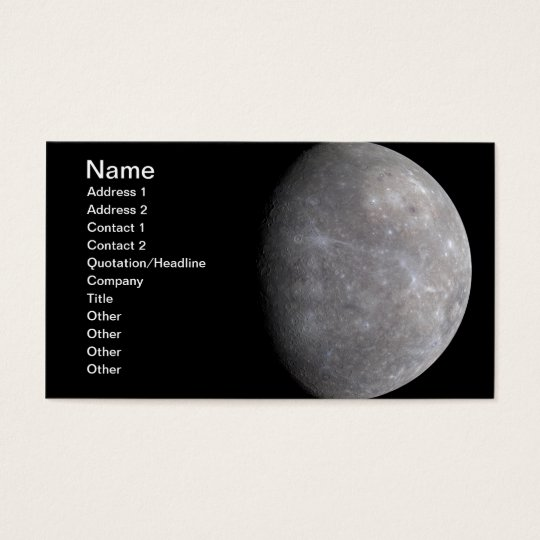 Planet Mercury in space Business Card