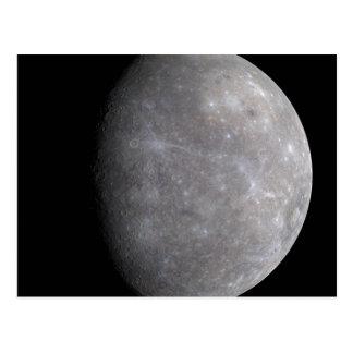 Planet Mercury in space Postcard