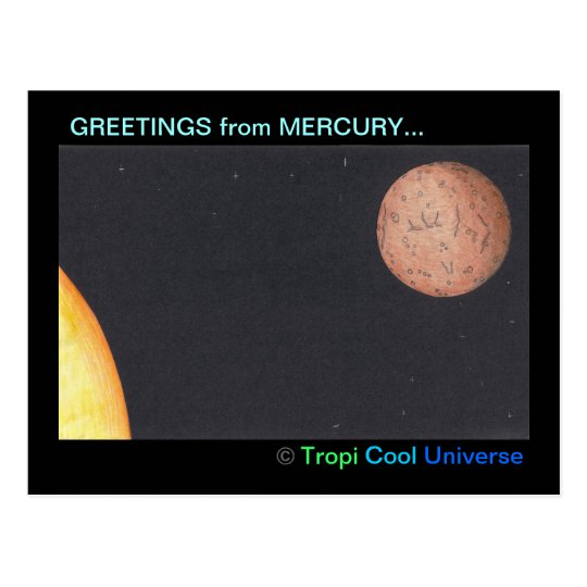 Planet MERCURY postcard