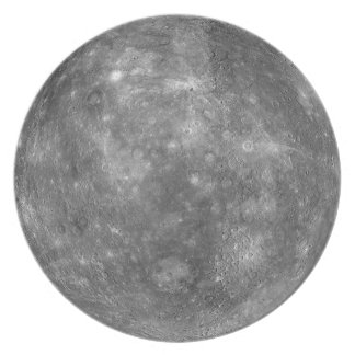 PLANET MERCURY (solar system) ~ Party Plate
