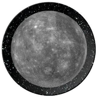 PLANET MERCURY star background (solar system) ~ Porcelain Plates
