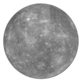PLANET MERCURY v.1 (solar system) Dinner Plate
