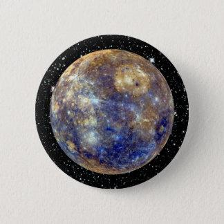 PLANET MERCURY v.2 star background (solar system) Button