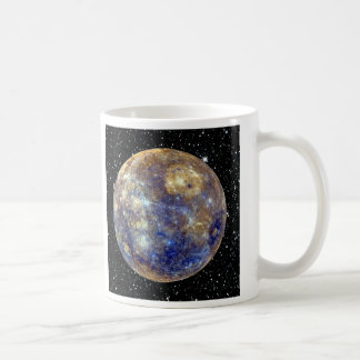 PLANET MERCURY v.2 star background (solar system) Coffee Mug
