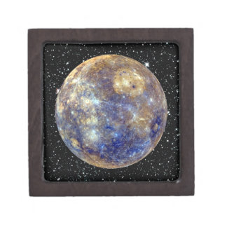 PLANET MERCURY v.2 star background (solar system) Gift Box