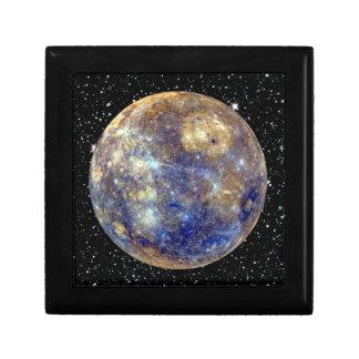 PLANET MERCURY v.2 star background (solar system) Jewelry Box