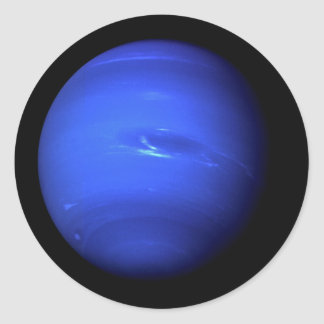 PLANET NEPTUNE natural (solar system) ~ Classic Round Sticker