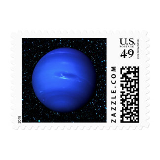 PLANET NEPTUNE on Star Background (solar system) Postage