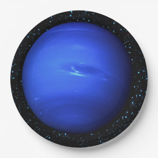 PLANET NEPTUNE Star Background (solar system) ~~~. 9 Inch Paper Plate