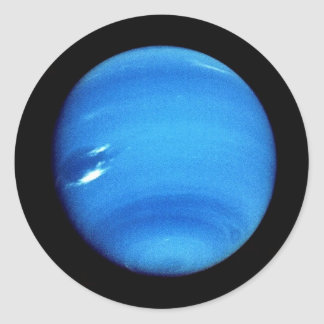 PLANET NEPTUNE V.3 natural (solar system) ~~ Classic Round Sticker