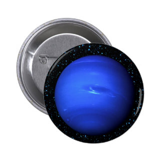 PLANET NEPTUNE with Star Background (solar system) 2 Inch Round Button