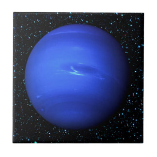 PLANET NEPTUNE with Star Background (solar system) Ceramic Tile