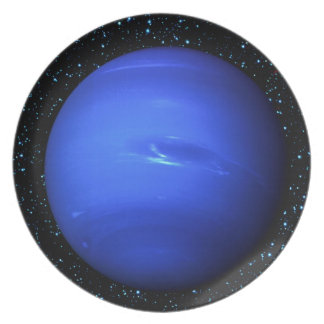 PLANET NEPTUNE with Star Background (solar system) Plate