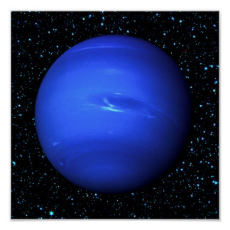 PLANET NEPTUNE with Star Background (solar system) Poster