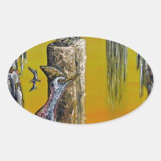 Planet Of Anomalies - Custom Print! Oval Sticker