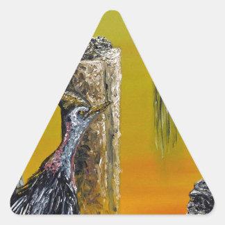 Planet Of Anomalies - Custom Print! Triangle Sticker